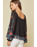 Embroidery Blouse Black
